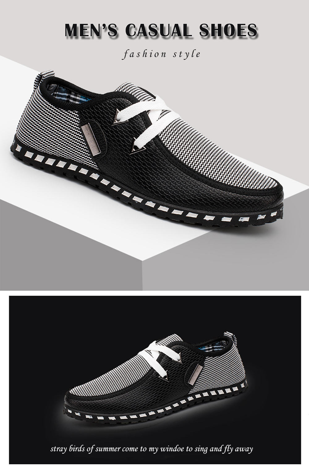 Men New Style Comfortable Casual Shoes Breathable Sneakers