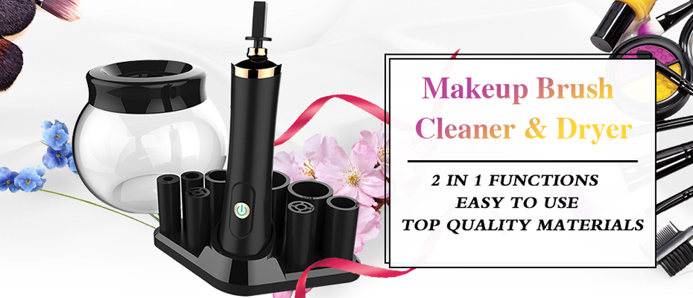 Electric Makeup Brush Cleaner and Dryer Set in Seconds Protecting Bristle