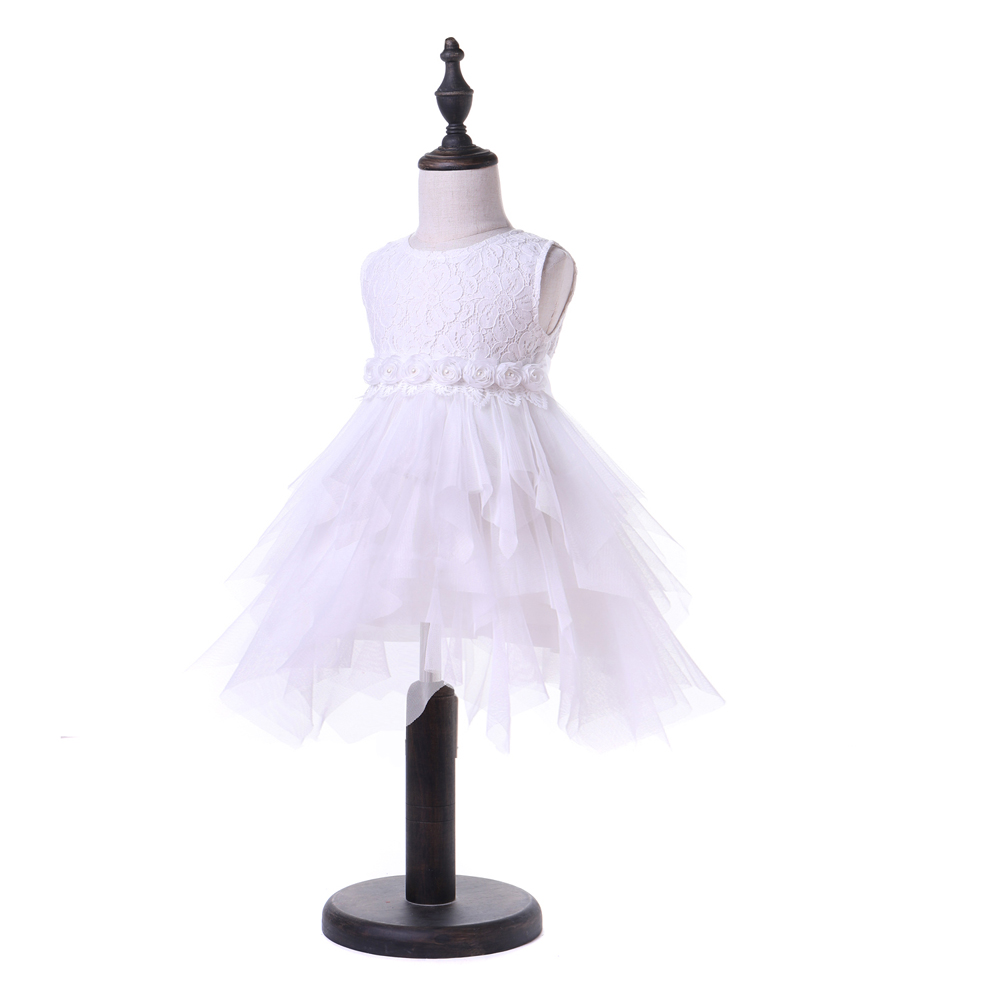 Yoyoxiu CX1126-3 Girl's Tank Dress Solid Color Patchwork Round Neck Fashion Lace