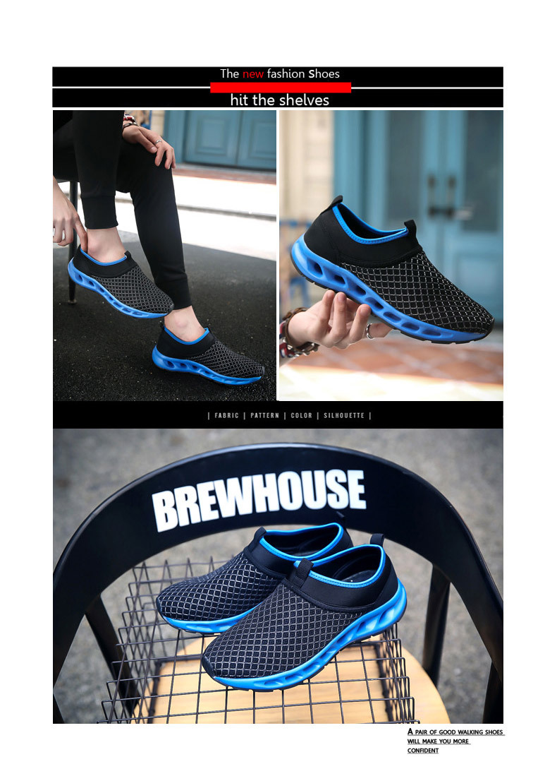 Men Textile Breathable Running Sneakers Outdoor Water Shoes - Sapphire Blue 40 browse cheap price purchase online zckuZ