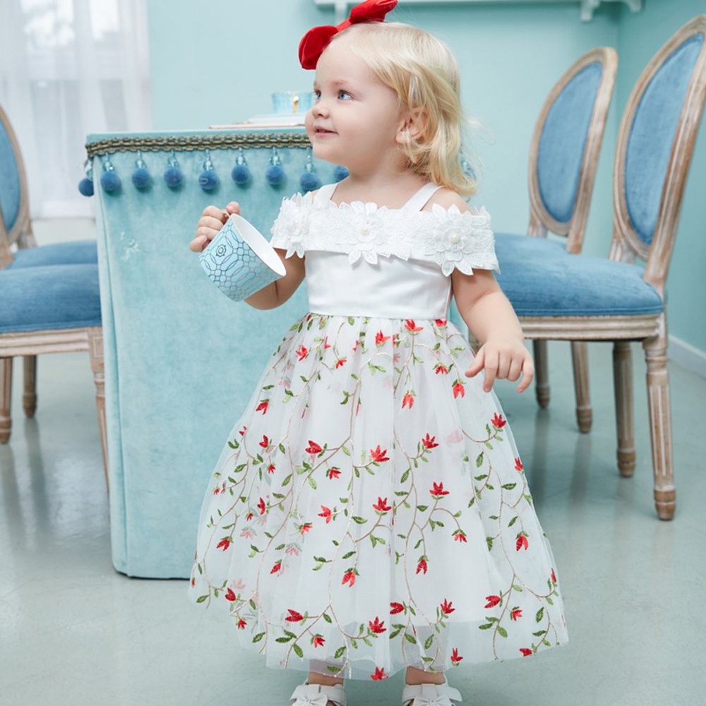 Yoyoxiu CX1212 - 2 Girls Fashion Floral Dress for 1 - 6 Years Old
