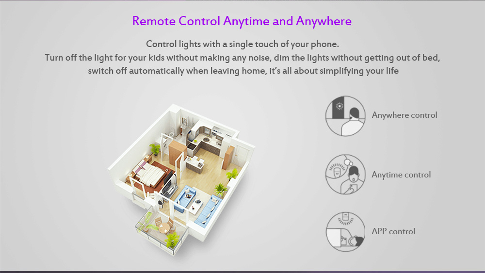 YEELIGHT 10W RGB E27 Wireless WiFi Control Smart Light Bulb - White E27 1PCS
