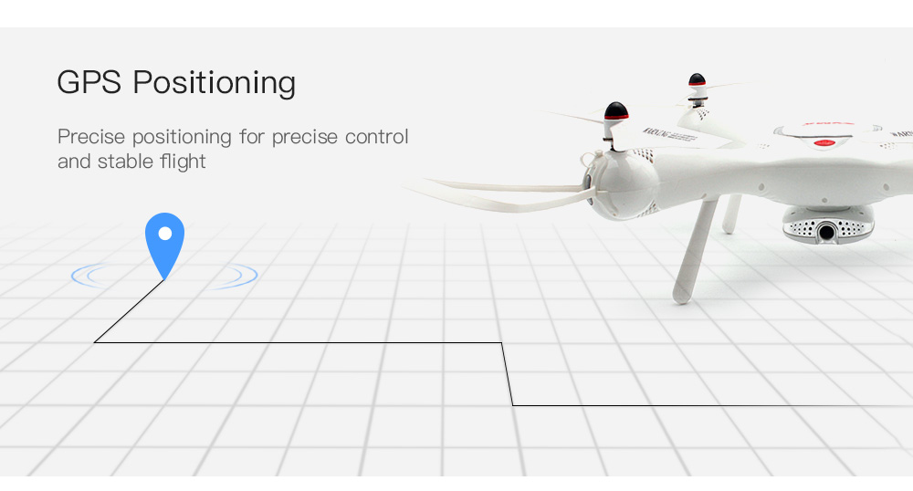 Syma X25 PRO GPS Positioning / 360-drgreee Flip / One Key Takeoff / Landing WiFi FPV Indoor RC Drone- White