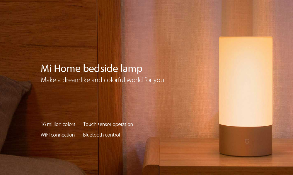 Xiaomi Mijia Bedside Lamp Bluetooth Control WiFi Connection Coupon Code and Review 2018