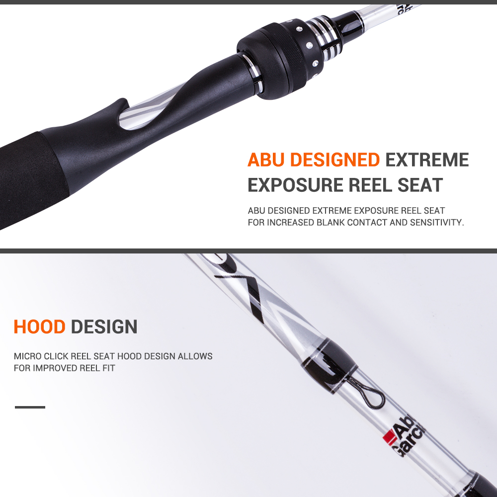 Abu Garcia Veritas 20 198cm Spinning And Casting Fishing Rod Along With Reel Parts Diagram Double Pole Relay White Vrtc662 5