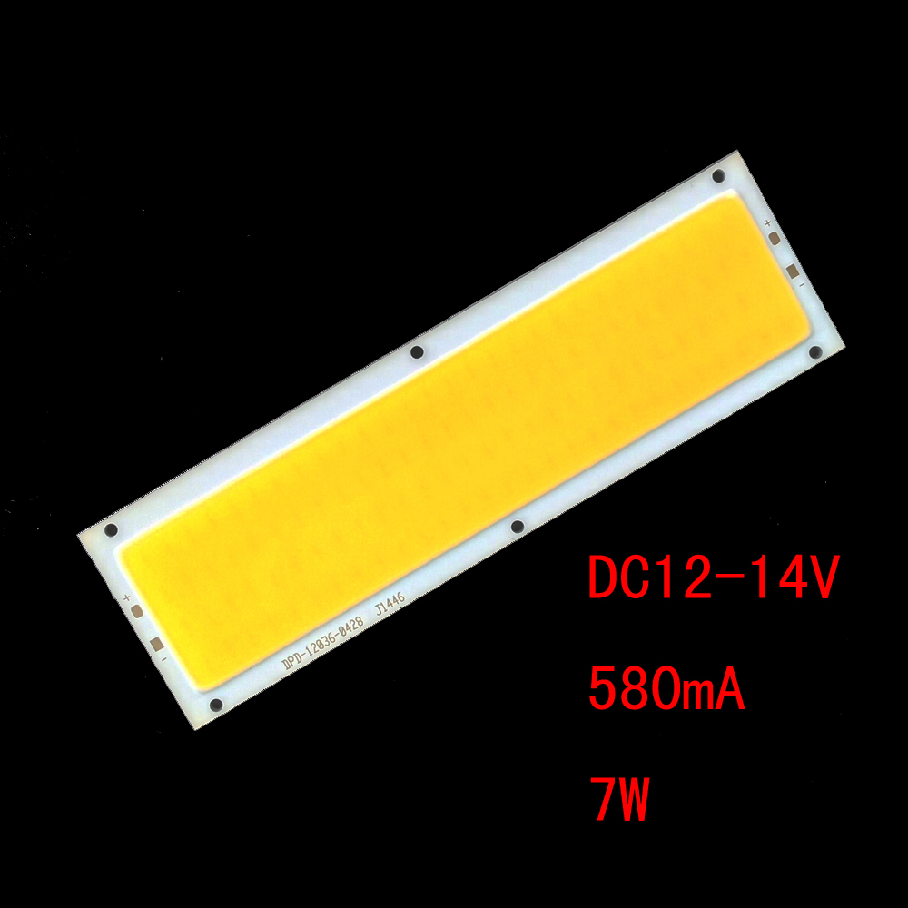 ZDM DIY 7W 700LM LED Square Integrated Light Source Board (DC12-14V 580mA)- Cool White