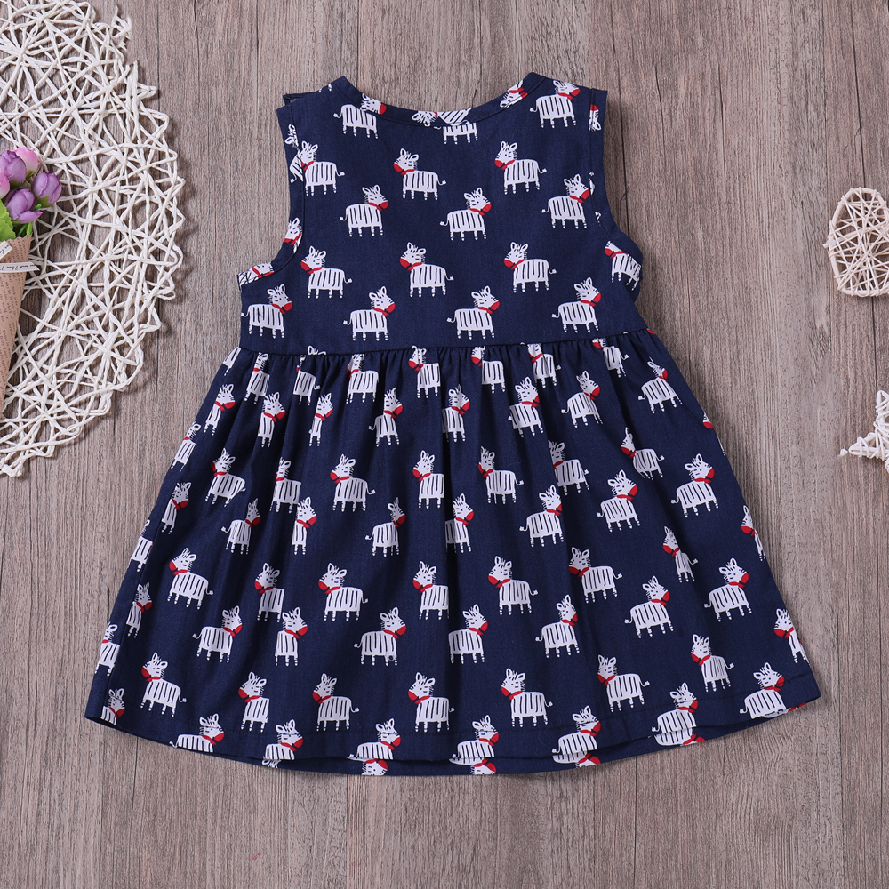 Yoyoxiu CX1122 - 2 Girls Sleeveless Bow Dress