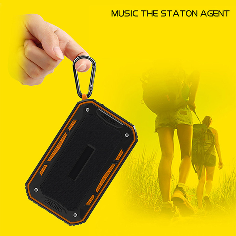 Outdoor Portable IP67 Waterproof Bluetooth Speaker- Orange