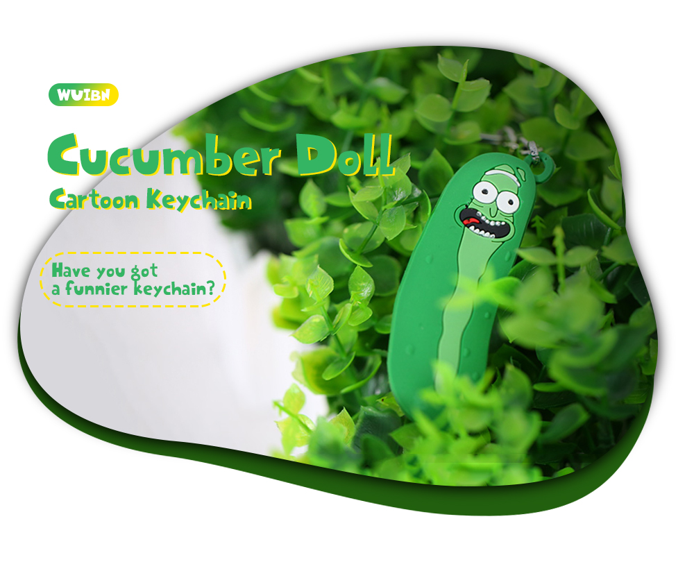 e59908797f WUIBN Cartoon Keychain Cucumber Doll Ornament Toy
