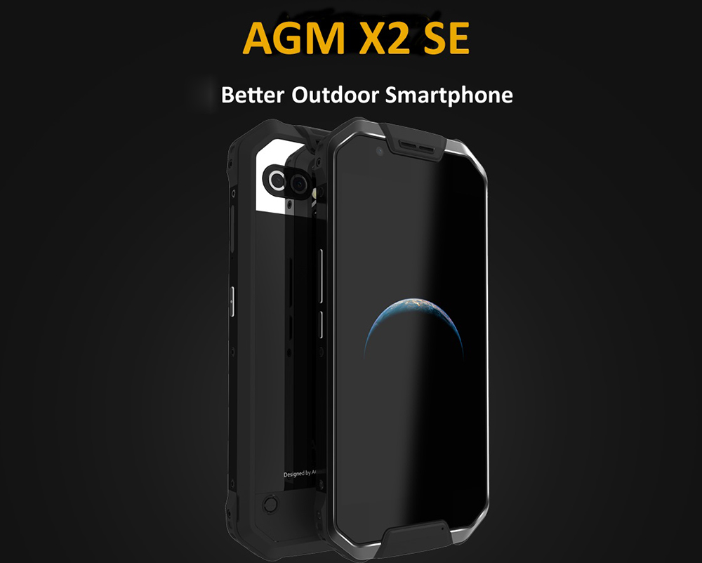 AGM X2 SE 4G Phablet Android 7.1 5.5 inch Qualcomm Snapdragon 653 Octa Core 1.95GHz 6GB RAM 64GB ROM Fingerprint Scanner Dual Rear Cameras IP68 Waterproof 6000mAh Battery