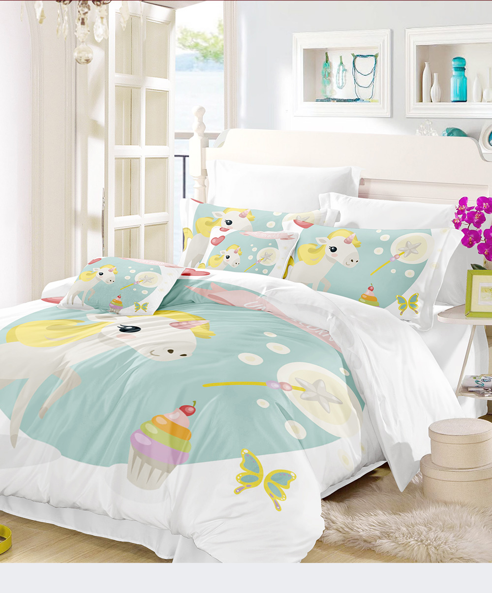 Other Bedding Zip It Friends Twin Bedding Set Twin Size Unicorn Rainbows Free Shipping Home Furniture Diy Tohoku Morinagamilk Co Jp