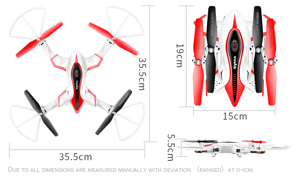 SYMA X56W Selfie Foldable RC Drone RTF with Flight Track / 360 Degree Flips