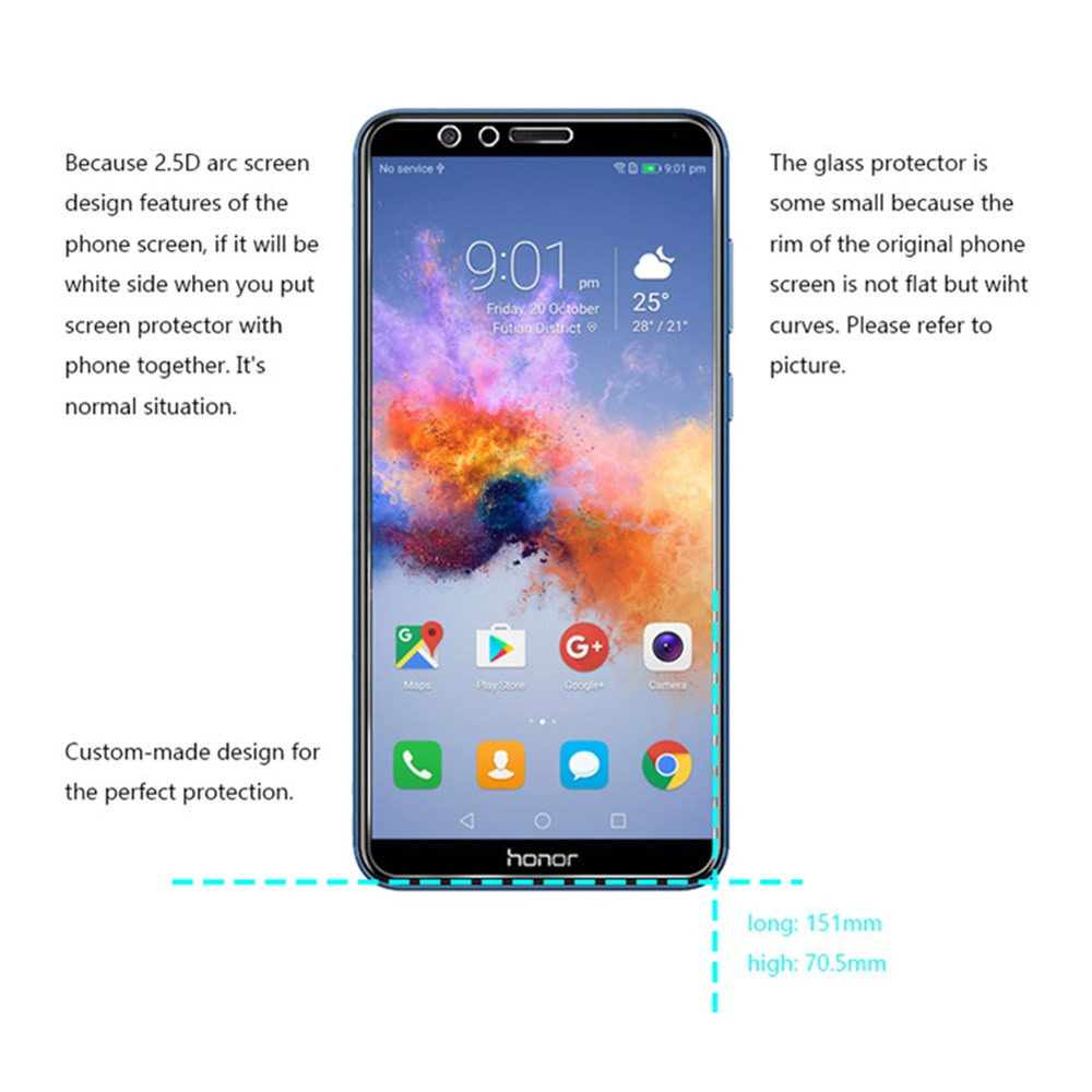 Screen Protector for Huawei Honor 7X High Clear Premium Tempered Glass