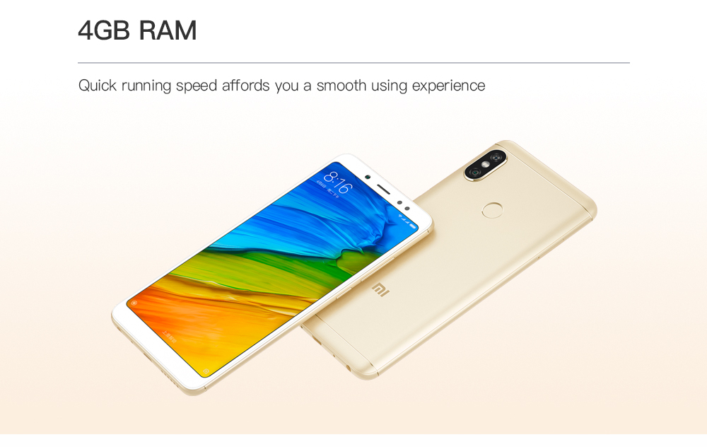Xiaomi Redmi Note 5 4G Phablet 5.99 inch MIUI 9 Qualcomm Snapdragon 636 Octa Core 1.8GHz 4GB RAM 64GB ROM Dual Rear Cameras Bluetooth 5.0 Fingerprint Recognition 4000mAh Battery