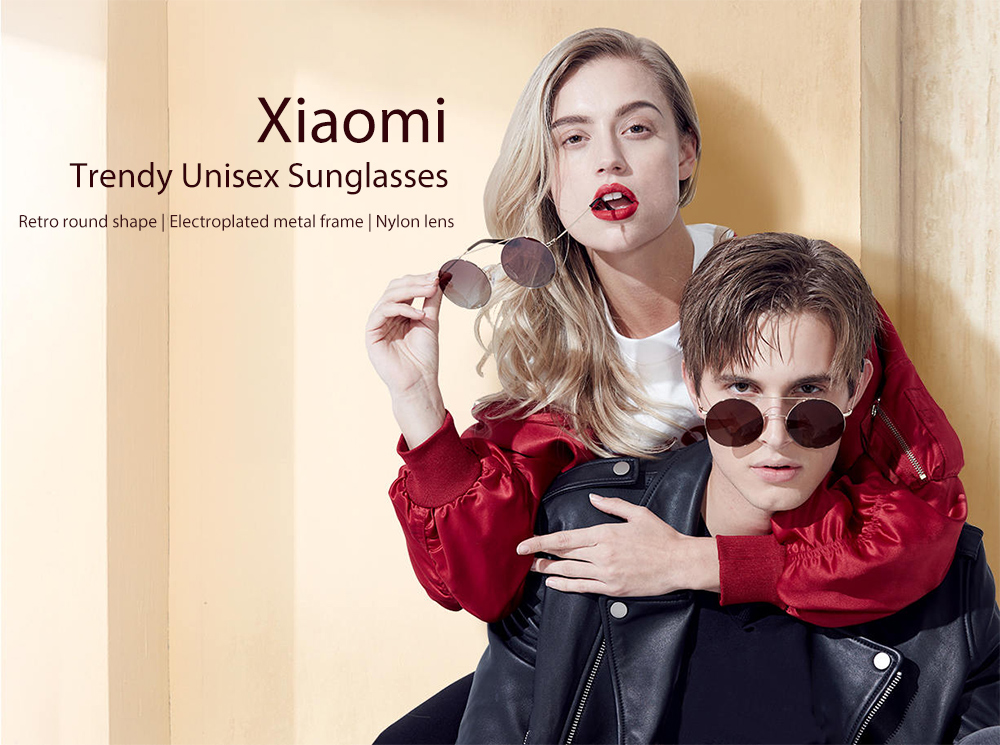 Xiaomi Retro Fashion Unisex Nylon Lens Sunglasses