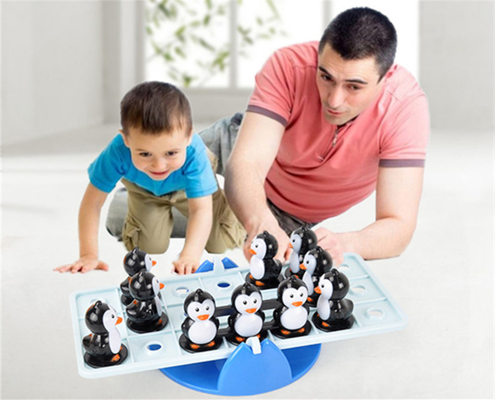 Balance Teeterboard Penguin Interactive  Funny Kids  Education Puzzle Toy