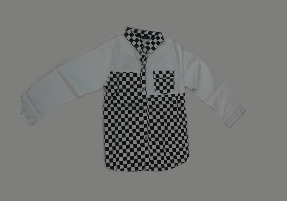 Lapel Block Pattern Casual Cotton Shirt