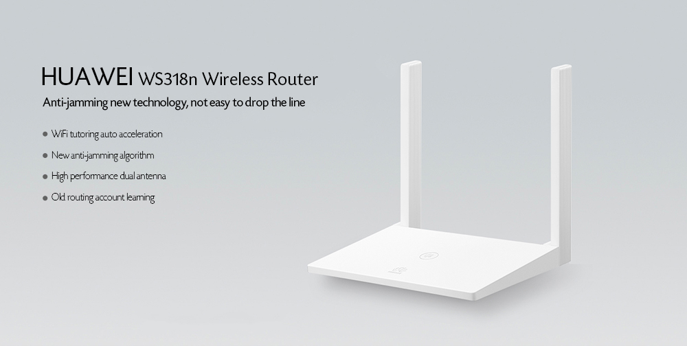 HUAWEI WS318n Wireless Router Two 5dBi Antennas LDPC- White