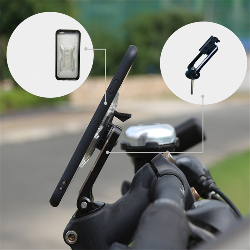Motorcycle Mobile Phone Holder Bicycle Bike Head Stem Mount Stand Bracket