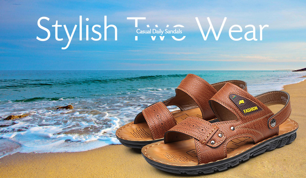 Stylish Two Wear Casual Beach Sandals Slippers for Men
