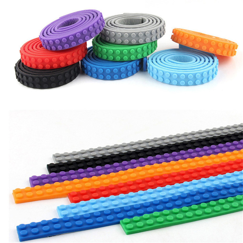 92CM Compatible Tape for Strip Brick Block Toy Bendable Flexible Corners Base