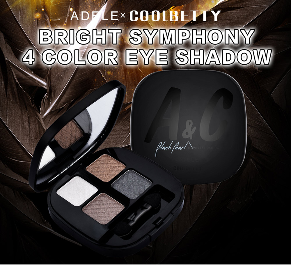 COOLBETTY C59009 Black Pearl Four-color Bright and Colorful Eye Shadow