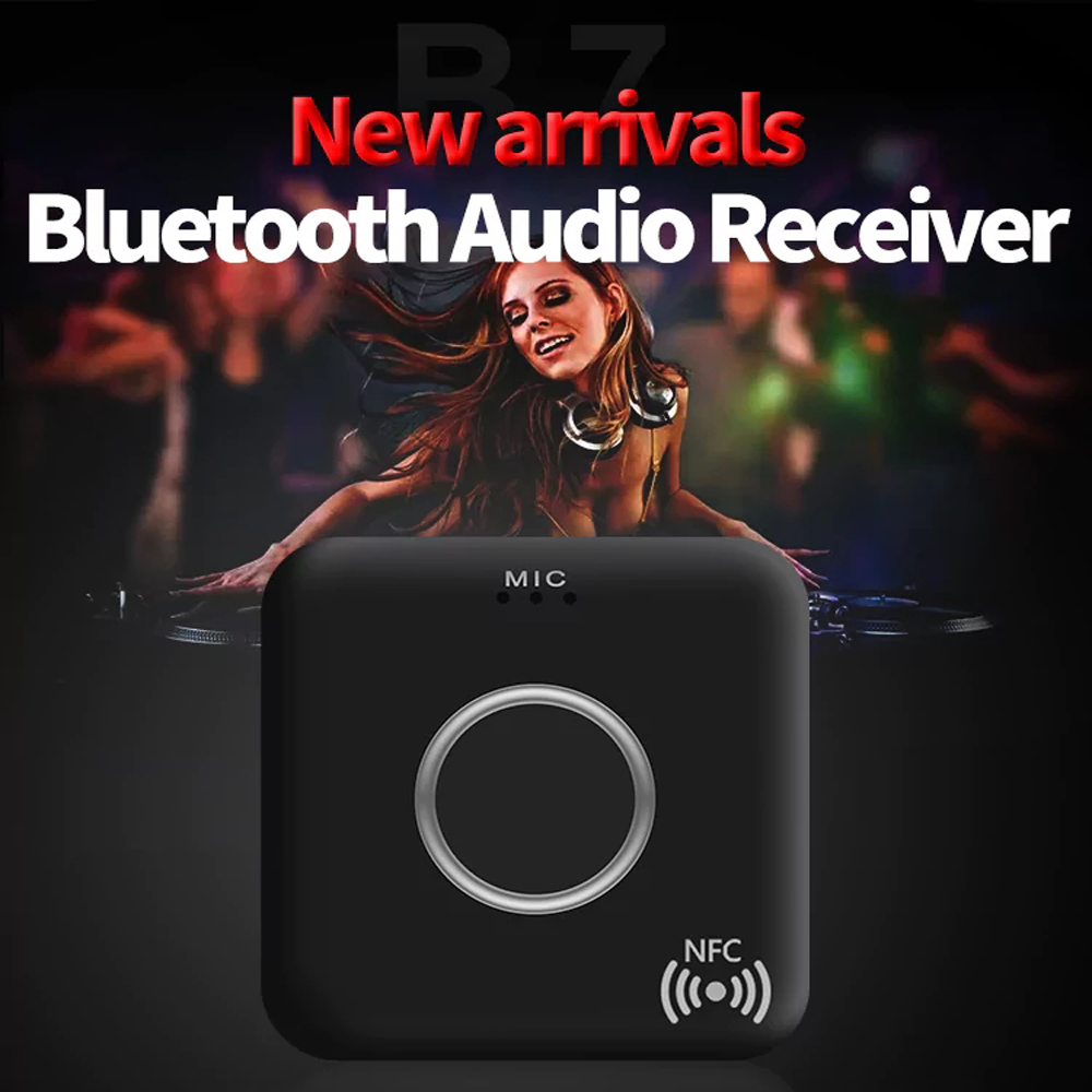 Wireless Audio Car Bluetooth Receiver with NFC Call Function
