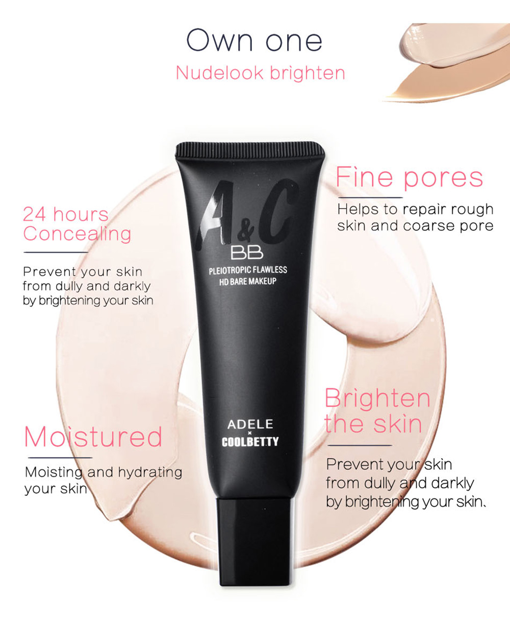 COOLBETTY C91025 Musician Giant Concealer High Definition BB Cream