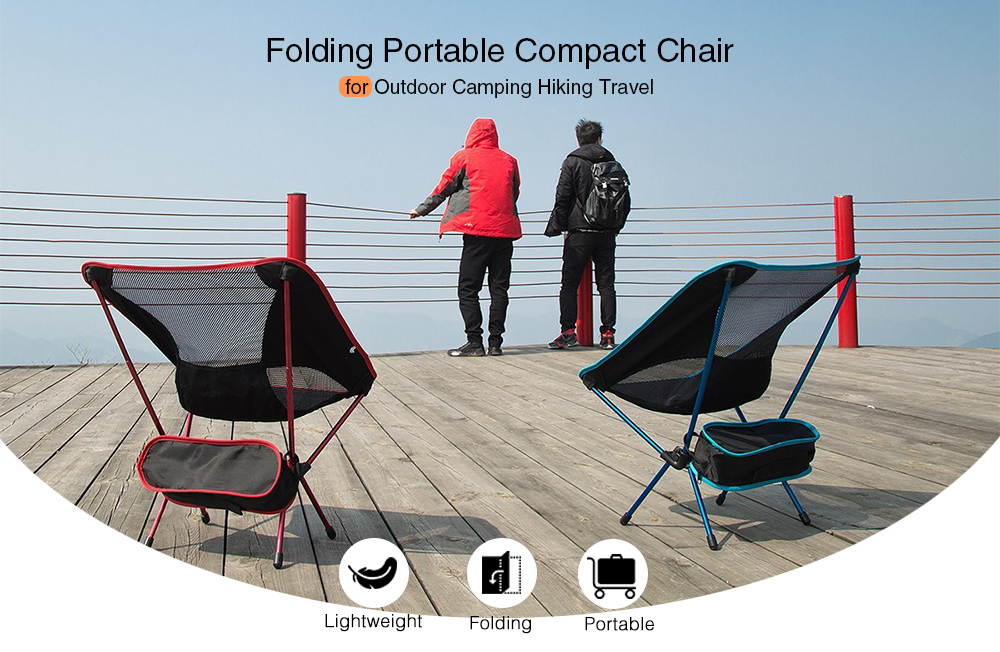 Lightweight Folding Portable Compact Chair for Outdoor Camping Hiking Travel