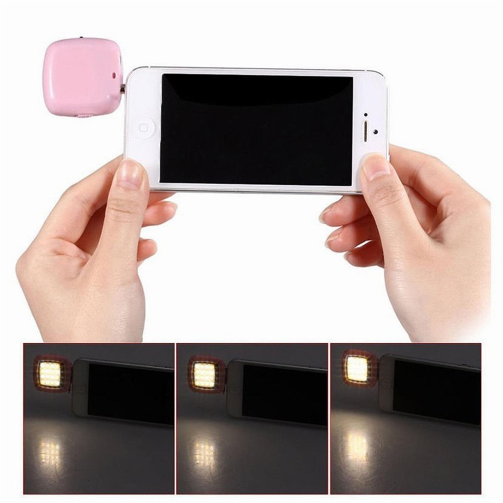 Mobile Phone Accessories Phone Flash Portable Phone Selfie Mini 16 Led Flash Fill Light For Smartphone Cell Phone Adapter Accessories Making Things Convenient For Customers