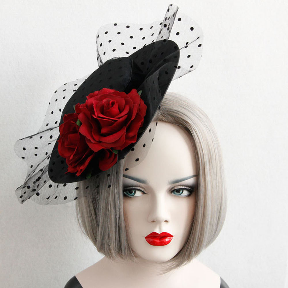 The Sexy Rose Flower Grenadine Hat