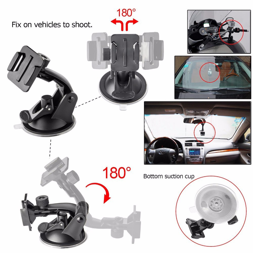 7CM Car Windshield Suction Cup with Base Mount for Gopro Hero 6 / 5 / 4 / Xiaomi
