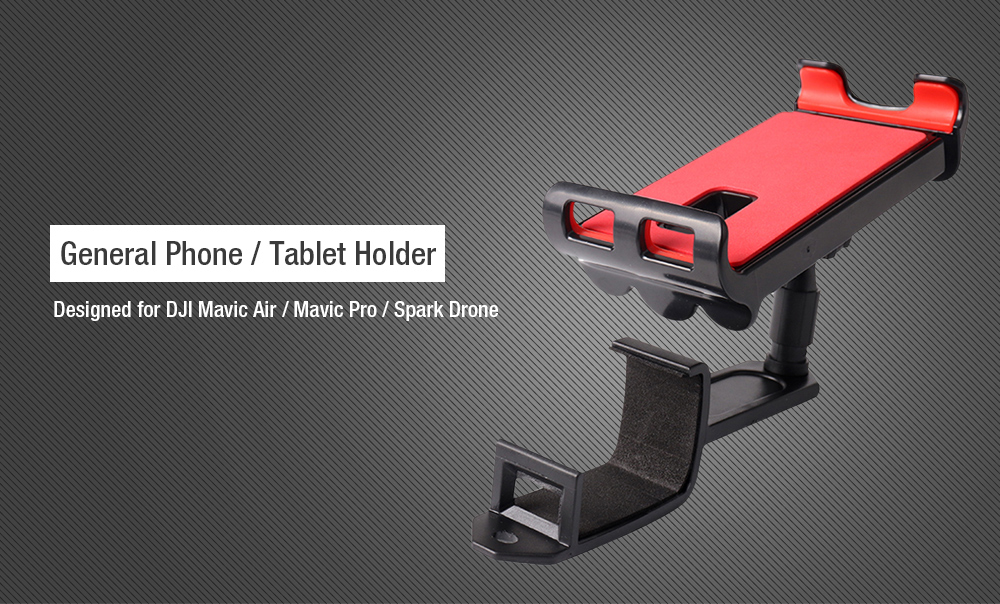General Mobile Phone Tablet Holder Front Bracket for DJI Mavic Air / Pro / Spark Transmitter