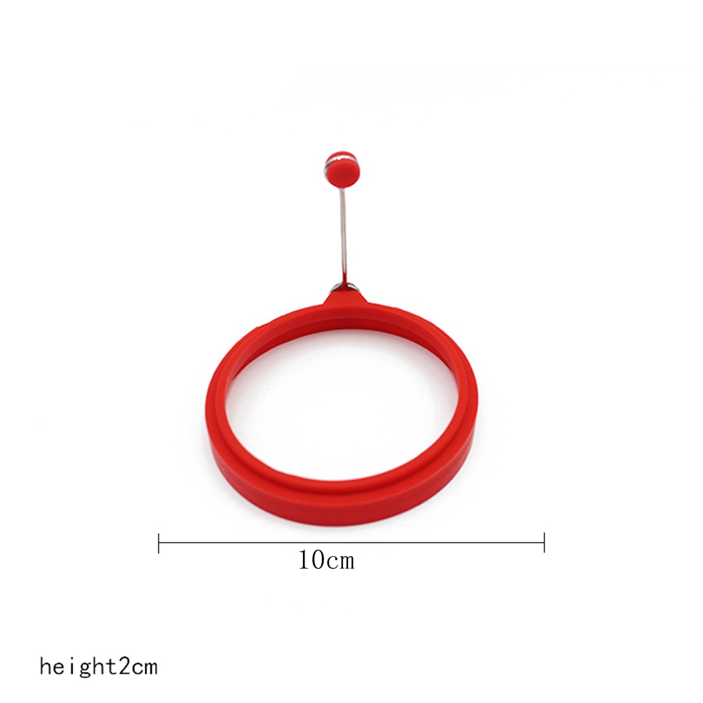 Round Egg Mold Silicone Pancake Omelette Device Cooking Tool- Fire Engine Red