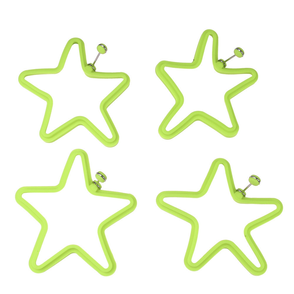 Star Egg Mold Silicone Pancake Omelette Device Cooking Tool- Salad Green