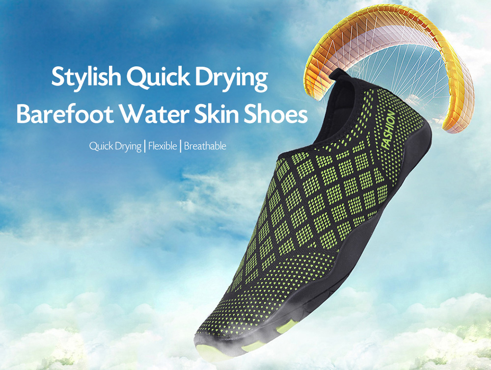 Men Stylish Quick Drying Barefoot Water Skin Shoes for Beach Swimming Yoga