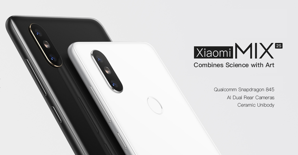 Xiaomi MI MIX 2S 4G Phablet 5.99 inch MIUI 9 Qualcomm Snapdragon 845 Octa Core 2.8GHz 6GB RAM 64GB ROM Dual Rear Cameras Bluetooth 5.0 Fingerprint Recognition Wireless Charging