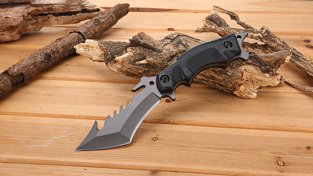 SR 014 EDC Straight Fixed Blade Knife for Tactical Survival Climbing