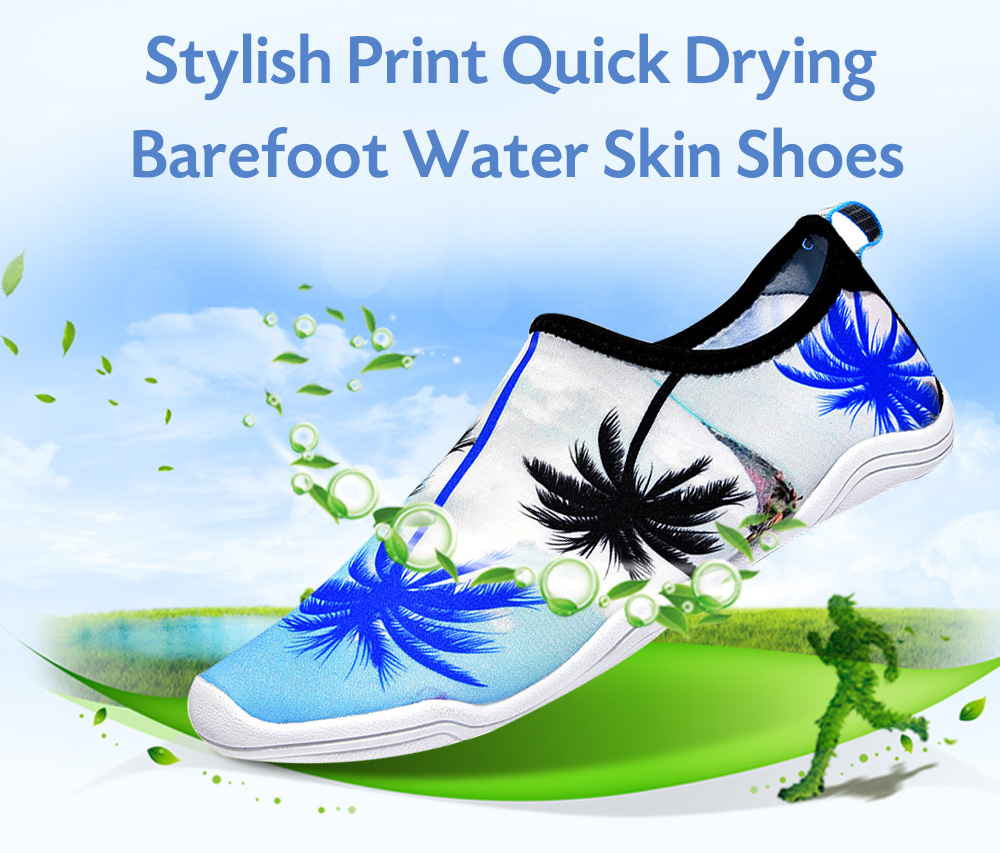 Men Stylish Print Quick Drying Barefoot Water Skin Shoes for Beach Swimming Yoga