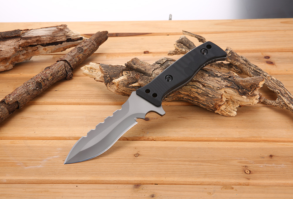 SR 007 EDC Straight Fixed Blade Knife for Tactical Survival Climbing
