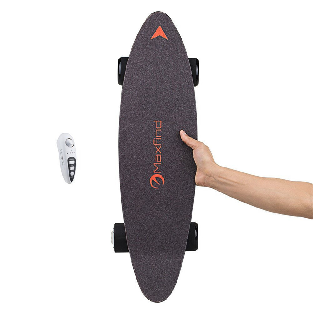Maxfind 27 inch Electric Skateboard, World's Most Portable Motorized Penny  Board- Black 1Pc