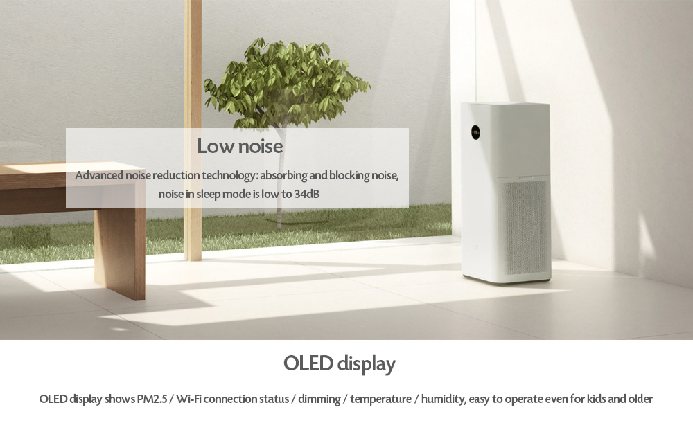 Xiaomi Mi Air Purifier Max Multifunctional Living Space Cleaner- White Chinese Plug