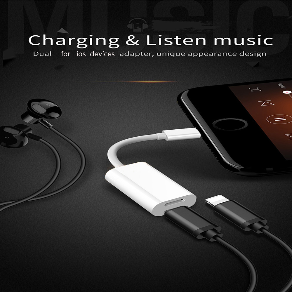 8//8 Plus Beyond Double Ports for Phone X 7//6 Double Headphone Audio and Charge Adapter 2 in 1 Headphone Adapter /& Splitter