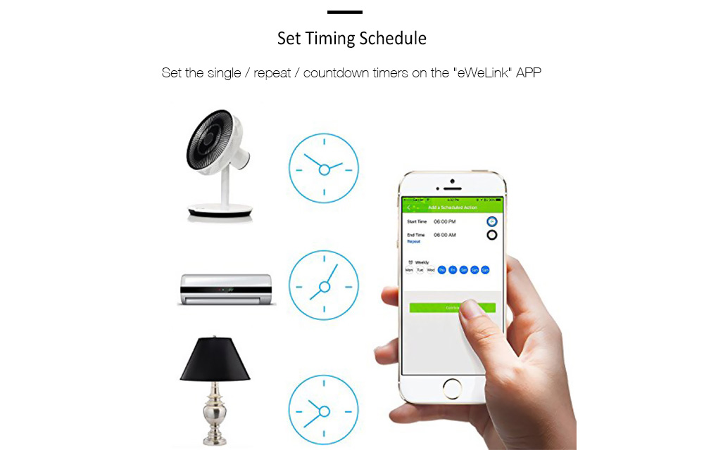 SONOFF TH10 WiFi Smart Switch App Remote Control Works with Amazon Alexa  Google Assistant