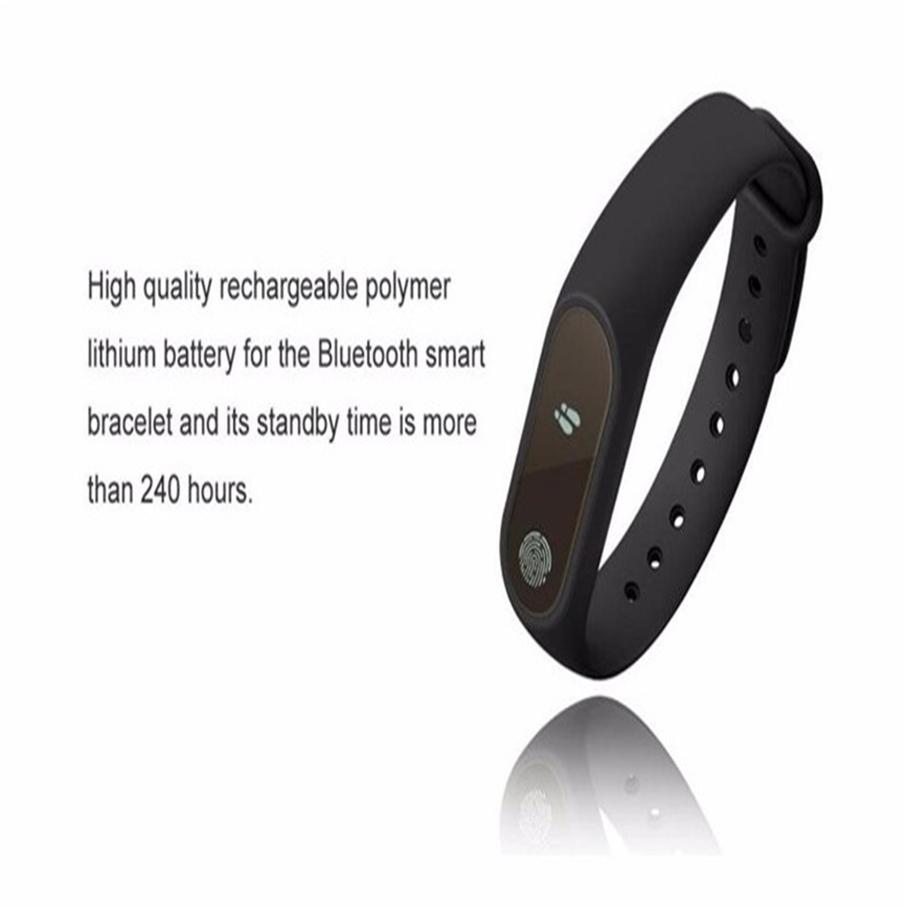 M2 Waterproof Fitness Smart Bracelet Heart Rate Monitor For Iphone Bluetooth Mi Band 2 Look Wristband Tracker Android Black