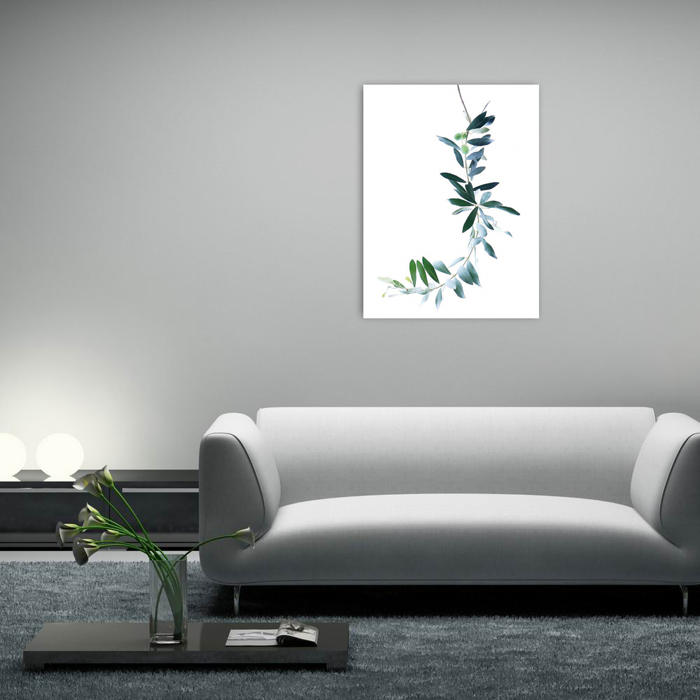 W011 Leaves Unframed Art Wall Oil Canvas Prints for Home Decorations