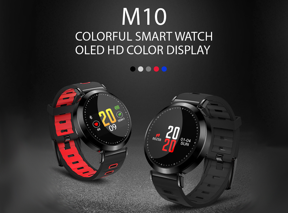 Wlngwear M10 Smart Bracelet 0.96 inch Color Screen 2018 Review And Coupon Code