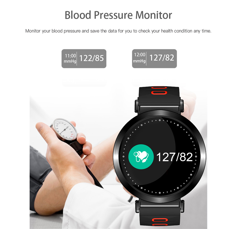 Wlngwear M10 Smart Bracelet 0.96 inch Color Screen Heart Rate / Blood Pressure / Blood Oxygen / Sleep Monitor Sedentary Reminder