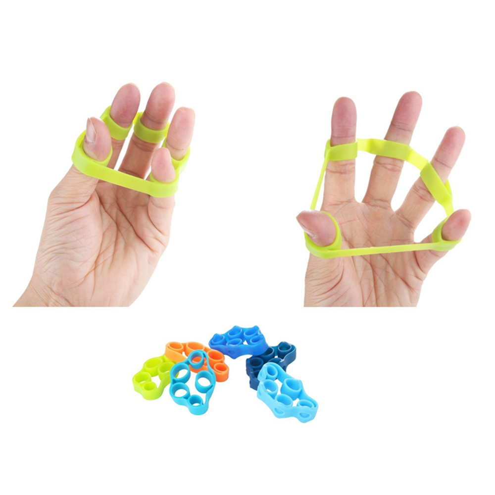 Finger Extensor Resistance Bands Stress Relief Exercise for Hands 6PCS