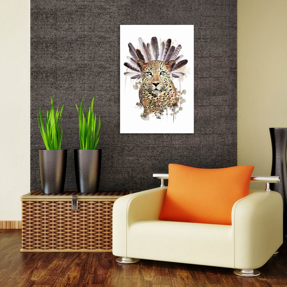 W022 Leopard Head Unframed Wall Art Canvas Prints for Home Decoration